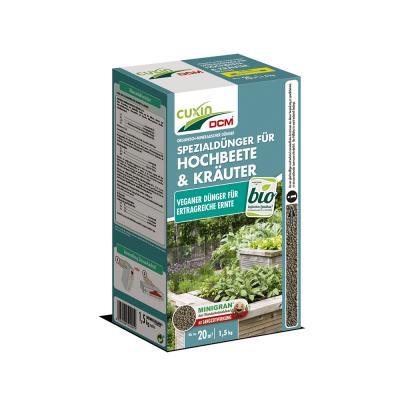 CUXIN DCM Organisch-Mineralischer Spezialdünger für Hochbeete & Kräuter