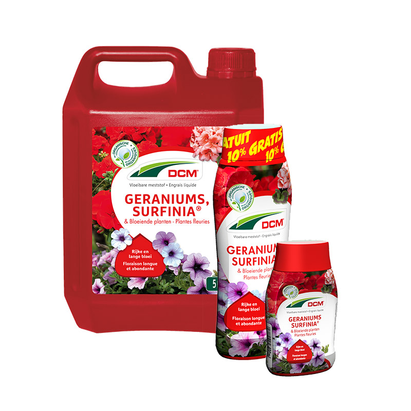 DCM Vloeibare Meststof Geraniums, Petunia & Bloeiende Planten