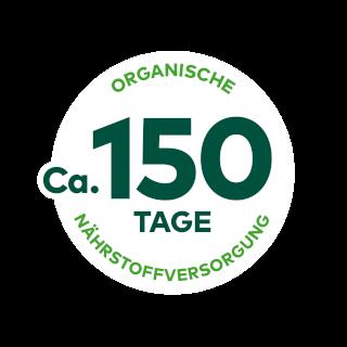 Organisch aufgedüngt für ca. 150 Tage