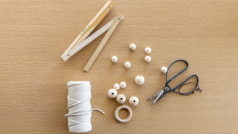 Macramé Hänge-Ampel selber machen Materialien