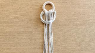 Macramé Hänge-Ampel selber machen - Step 1