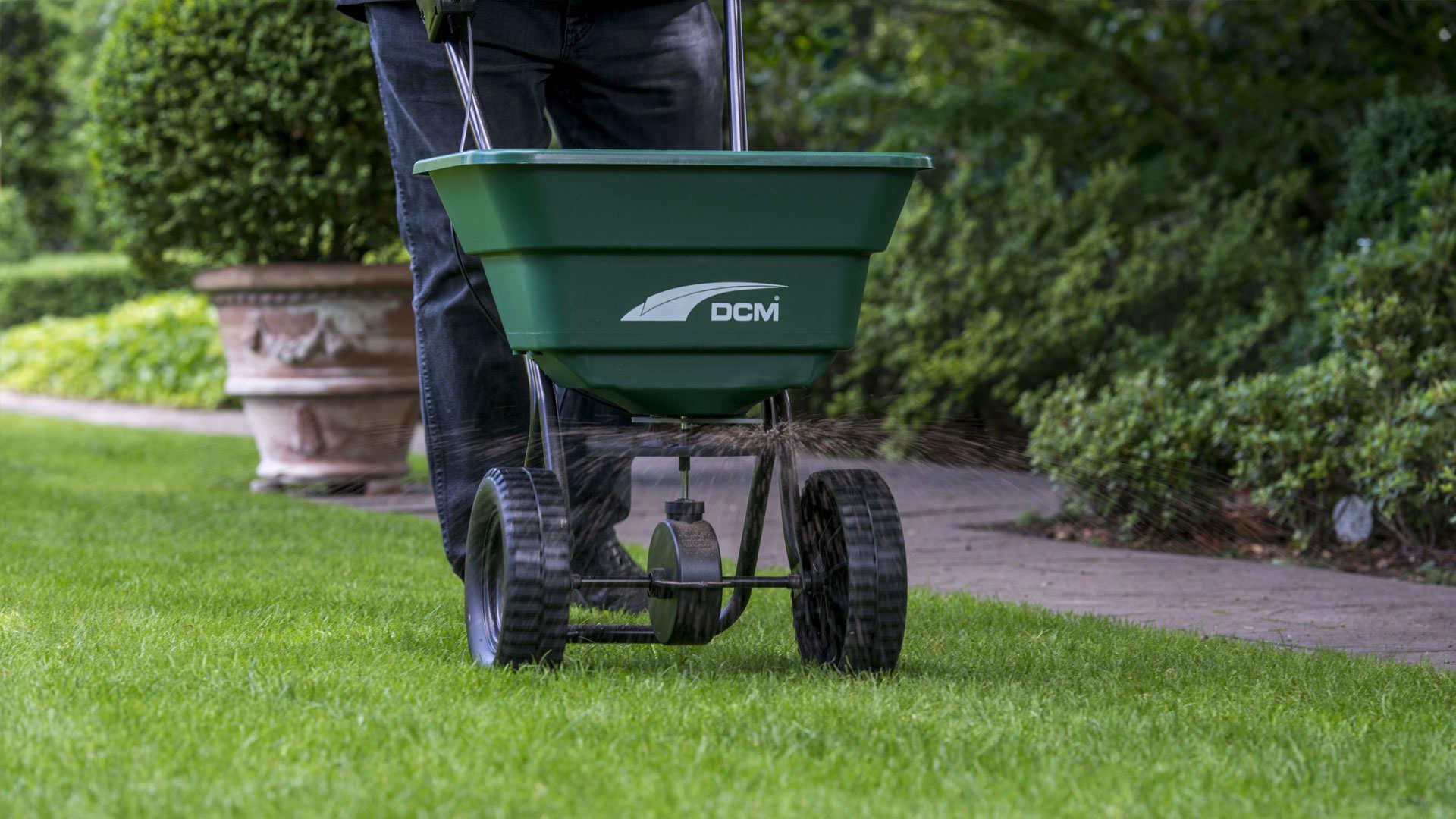 Streueinstellungen für CUXIN DCM-Rasenprodukte