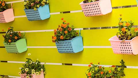 Verticaal tuinieren is de ideale oplossing voor balkons