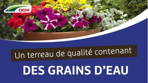 Un terreau de qualité contenant des grains d'eau  -  Terreau Aquaterra® DCM