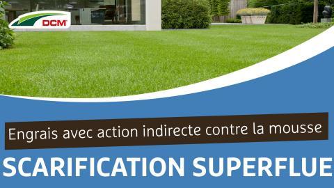 Engrais 5 en 1:  Scarification superflue, Action indirecte contre la mousse, Engrais organique, Chaux, Bactéries utiles - Microgazon Plus DCM