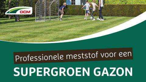 Professionele meststof voor een supergroen gazon - DCM Vital-Green Gazon
