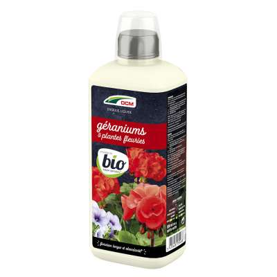 Engrais Liquide Géraniums & Plantes Fleuries DCM